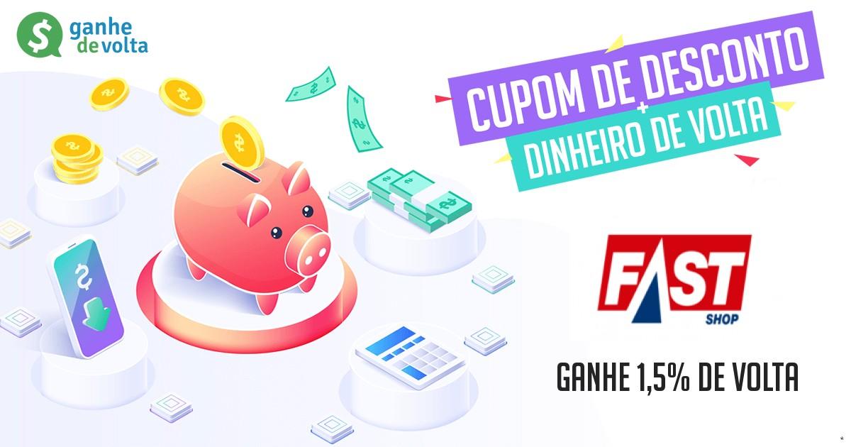 807bdcfbb9f02 Fast Shop: Ganhe descontos + 1,7% de cashback - Ganhe de Volta